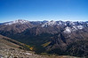 Mount Elbert and La Plata Peak dominate the view south from Mt. Massive; Colorado Sawatch Range.