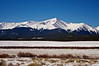 Mount Elbert, near Leadville, CO.  At 14,440 feet above sea level, this is the highest peak in the Rocky Mountains of North America.