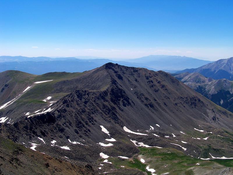 Mount Columbia from the summit of Mt. Harvard, Colorado Sawatch Range