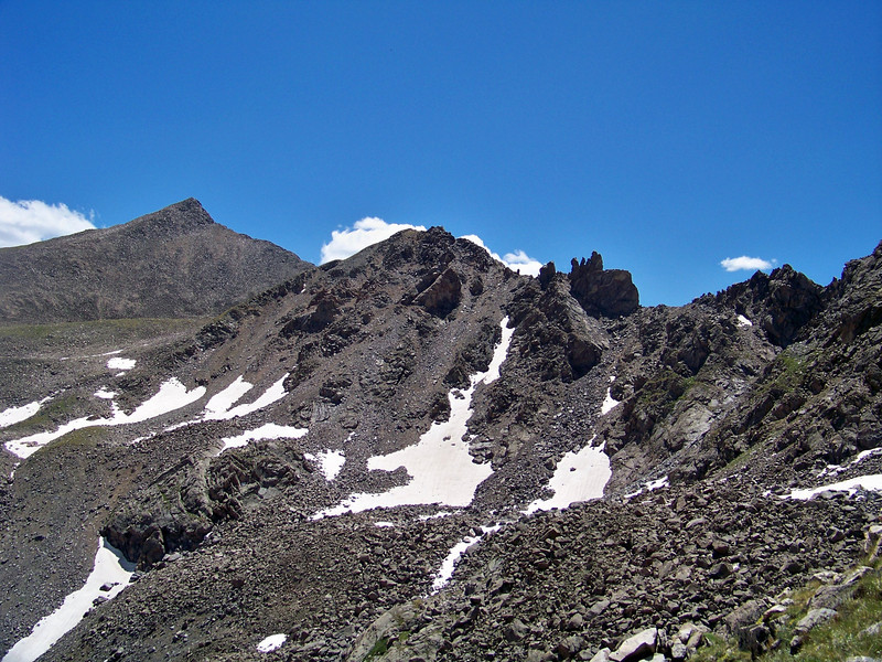 The rugged ridge traverse to Mount Columbia, Colorado Sawatch Range