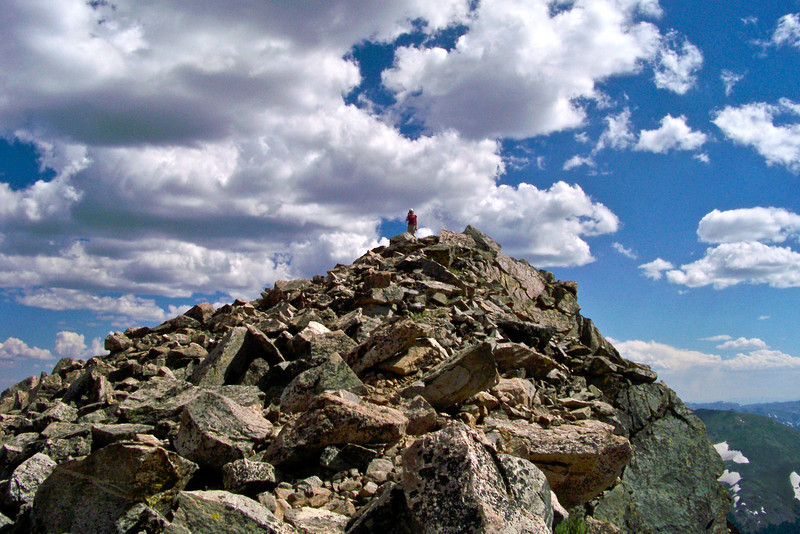 Late afternoon on the Mount Columbia summit, Colorado Sawatch Range