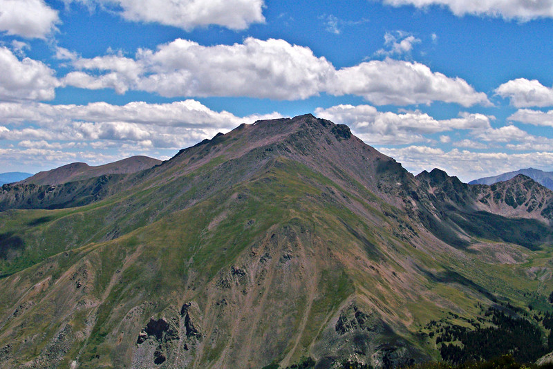 Mount Harvard's north side, viewed from Mt. Oxford, Colorado Sawatch Range
