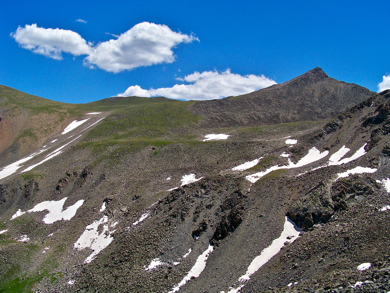 Mount Columbia's north face and northeast ridge, Colorado Sawatch Range