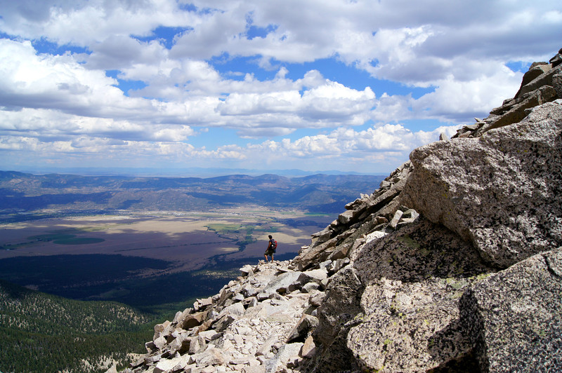 Viewing the valley below from the southeast face of Mt. Princeton; Colorado Sawatch Range.