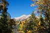 Mount Princeton's southwest face framed in the autumn colors; Colorado Sawatch Range.