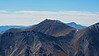 Mount Shavano's north face as seen from the summit of Mount Antero; Colorado Sawatch Range.