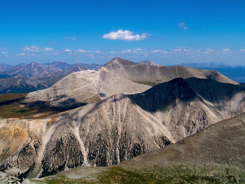Mt. Antero, Mt. Princeton and the Collegiate Peaks from the Shavano summit, Colorado Sawatch Range