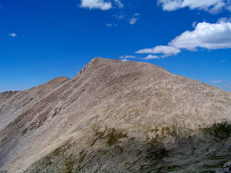 Tabeguache Peak, east ridge, from Mt. Shavano