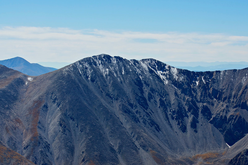 Tabeguache Peak's north face as seen from the summit of Mount Antero; Colorado Sawatch Range.