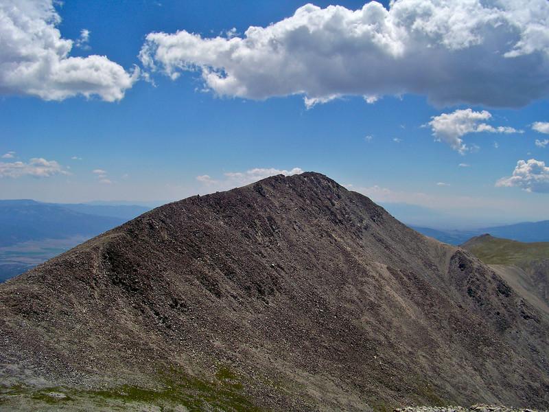 The west face of Mt. Shavano from Tabeguache Peak, Colorado Sawatch Range