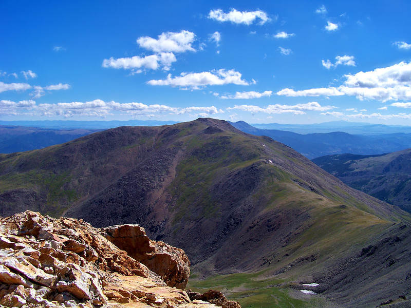 Mount Oxford viewed from the summit of Mt. Belford, Colorado Sawatch Range.