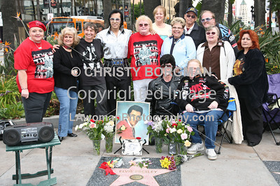Elvis Presley's star on his 76th birthday...January 8, 2011
