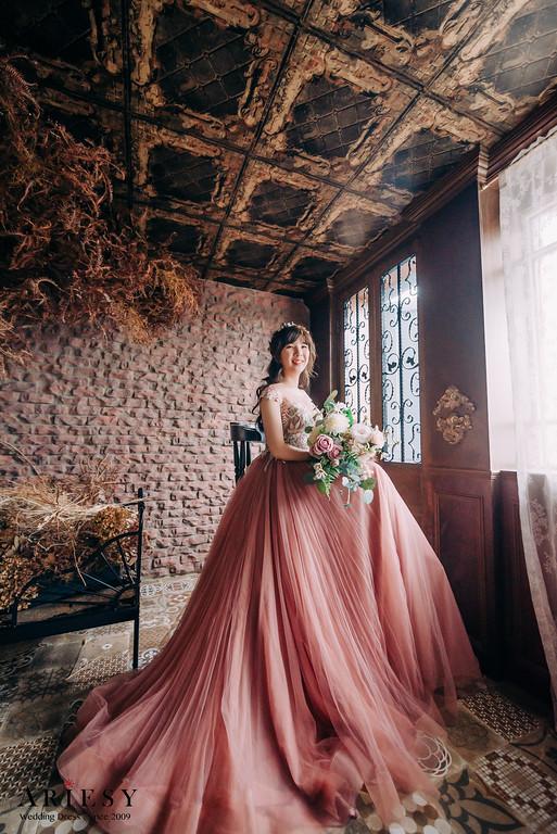 禮服出租,新莊自助婚紗,手工婚紗,婚紗包套,藕紫色素紗禮服,透膚花蕾絲禮服