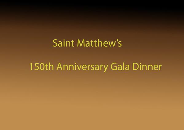 150th Anniversary Gala Dinner