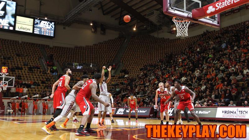 Jalen Hudson shoots a free throw in the second half. (Mark Umansky/TheKeyPlay.com)