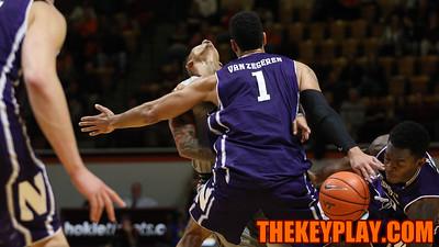 Seth Allen runs into Joey Van Zegeren on a quick break towards the basket. (Mark Umansky/TheKeyPlay.com)
