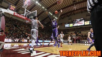 Seth Allen (4) tries to inbound the ball past Northwestern's Scottie Lindsey. (Mark Umansky/TheKeyPlay.com)