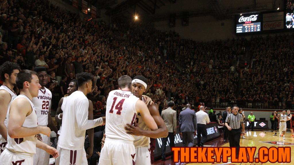 Zach Leday hugs Greg Donlon as the final whistle blows. (Mark Umansky/TheKeyPlay.com)