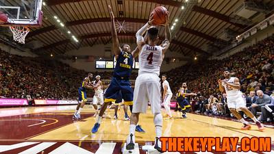 Seth Allen looks to inbound the ball against the WVU press. (Mark Umansky/TheKeyPlay.com)