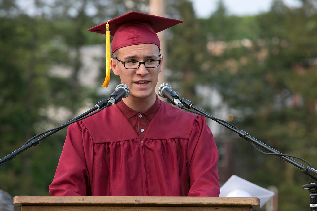 . Fitchburg High School graduatuon was held at Crocker Field on Friday night, May 31, 2019. SENTINEL & ENTERPRISE/JOHN LOVE