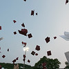 Fitchburg High School graduation was held at Crocker Field on Friday night, May 31, 2019. Caps fly high aft the end of the graduation. SENTINEL & ENTERPRISE/JOHN LOVE