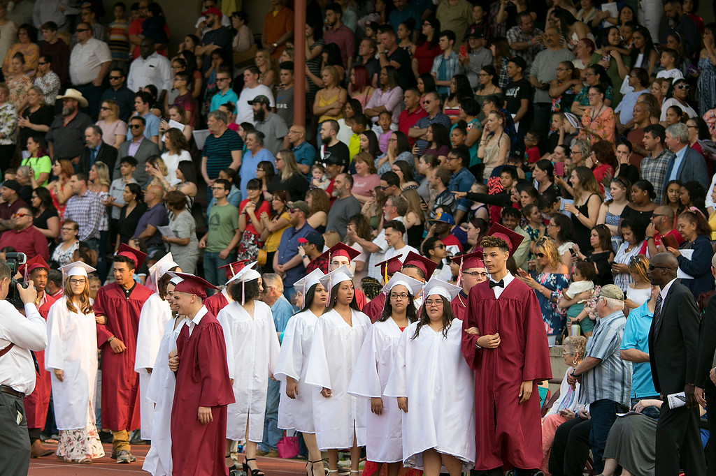 . The 153rd Fitchburg High School graduation was held at Crocker Field on Friday night, May 31, 2019. SENTINEL & ENTERPRISE/JOHN LOVE
