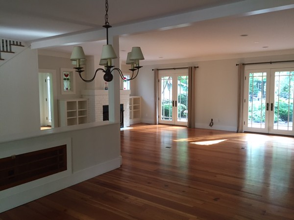 standing in formal dining room