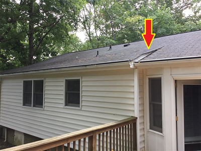 Sheathing deficiencies created dips and shingle problems. See following pictures for more details.