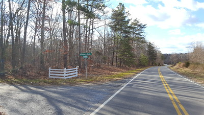 Other end of road frontage on Sunnymeade Rd and entrance to Huckleberry Knob Dr