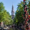 Locks on canal bridge, Amsterdam, Netherlands