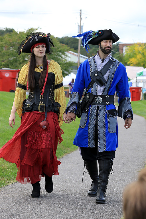 . The 15th annual Blacksmith Art and Renaissance Festival was held on Saturday, September 29, 2018. Dressed up for the festival is Jessica and Henrique DeOliveira of Leominster. SENTINEL & ENTERPRISE/JOHN LOVE