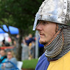 The 15th annual Blacksmith Art and Renaissance Festival was held on Saturday, September 29, 2018. Branden Wasilank, dressed the part, from Connecticut watches the jousting at the festival. SENTINEL & ENTERPRISE/JOHN LOVE