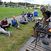 The 15th annual Blacksmith Art and Renaissance Festival was held on Saturday, September 29, 2018. Some festival goers watch blacksmith David Caruso of Ashburnham as he works during the festival. SENTINEL & ENTERPRISE/JOHN LOVE