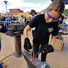 The 15th annual Blacksmith Art and Renaissance Festival was held on Saturday, September 29, 2018. Brianna Fasulo, 16, from Bristol-Plymouth Regional Technical School molds some heated metal during the festival. SENTINEL & ENTERPRISE/JOHN LOVE