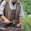 The 15th annual Blacksmith Art and Renaissance Festival was held on Saturday, September 29, 2018. Blacksmith Dirk Underwood of Hudson molds some heated up metal during the festival. SENTINEL & ENTERPRISE/JOHN LOVE
