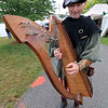 The 15th annual Blacksmith Art and Renaissance Festival was held on Saturday, September 29, 2018. Guy Todd of Westminster plays the harp as he wonders around the festival dressed the part during the festival. SENTINEL & ENTERPRISE/JOHN LOVE