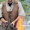 The 15th annual Blacksmith Art and Renaissance Festival was held on Saturday, September 29, 2018. Blacksmith Dirk Underwood of Hudson heats up some meal during the festival. SENTINEL & ENTERPRISE/JOHN LOVE