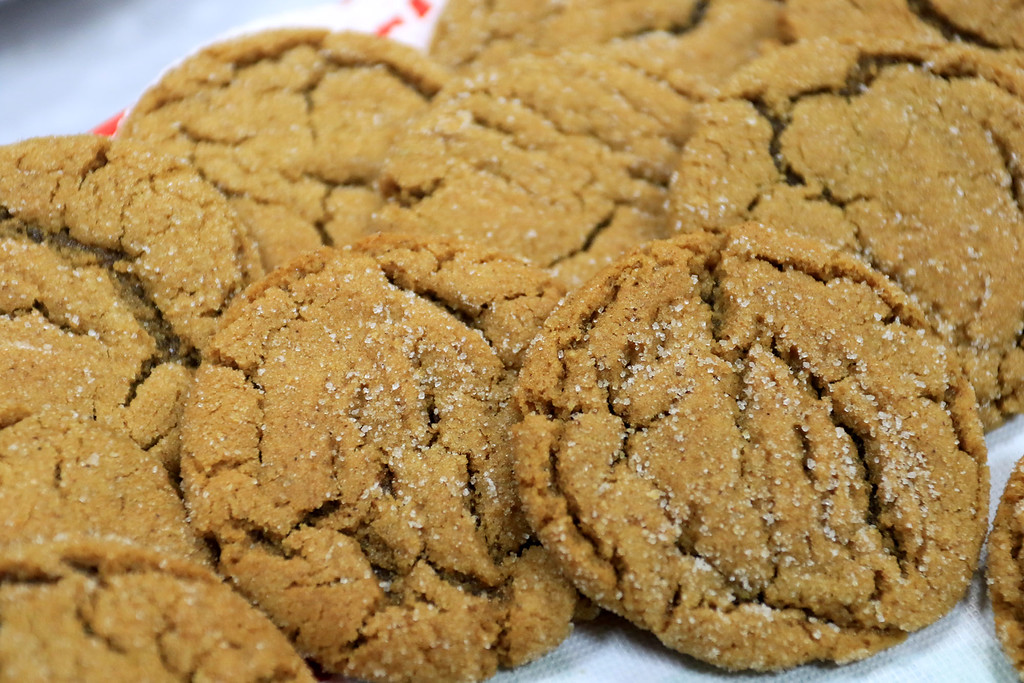 . Holiday Fair and Cookie Sale was held at the Hazen Memorial Library in Shirley on Saturday, November 3, 2018. These molasses cookies where just some of the many they had on sale at the fair. SENTINEL & ENTERPRISE/JOHN LOVE