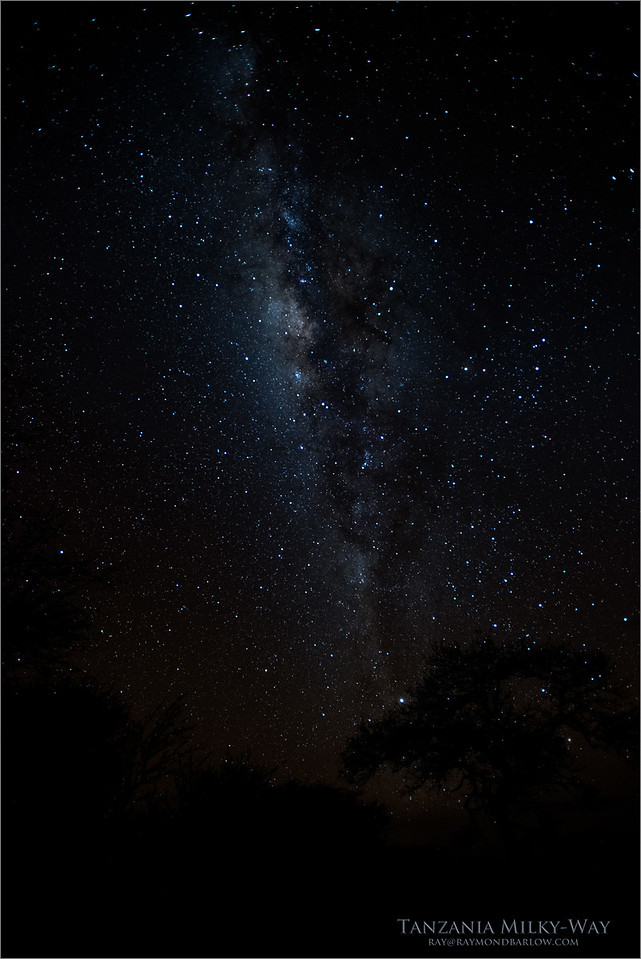 Milky-way - Tanzania August 2017<br /> Raymond Barlow Photo Tours to Tanzania Wildlife and Nature<br /> <br /> Prints - ray@raymondbarlow.com<br /> Nikon D810 ,Nikkor 200-400mm f/4G ED-IF AF-S VR<br /> 25s f/2.8 at 17.0mm iso2500
