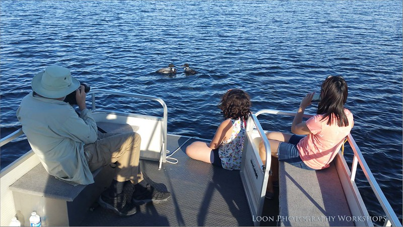 Harry, Daisy and Maria on the Pontoon boat - Eastern Ontario.