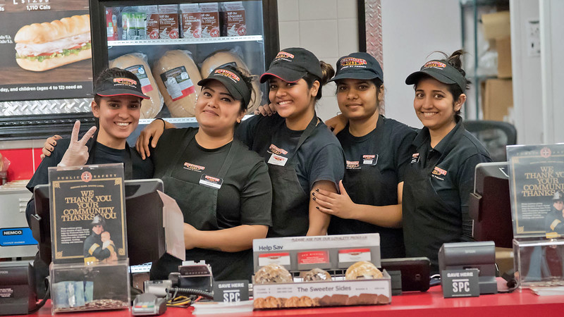 """Firehouse Subs in Niagara Falls.<br /> Wonderful young ladies!<br /> <br /> Firehouse Girls<br /> Ontario, Canada<br /> <br />  <a href=""""http://www.raymondbarlow.com"""">http://www.raymondbarlow.com</a><br /> Sony Alpha A9,Sony FE 100-400mm F4.5–5.6 GM OSS<br /> 1/640s f/5.0 at 146.0mm iso25600"""
