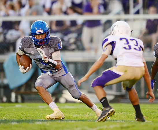 Union's Tre'von Charles moves the ball.