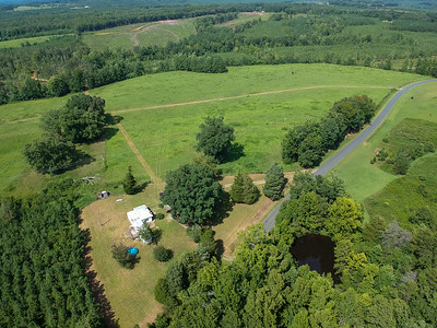 Great view of Tract 1 and mobile home on Tract 2