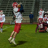 Jake Hachey of North MIddlesex hangs on to a pass from QB Joe Haskins. (SENTINEL&ENTERPRISE/ Jim Marabello)