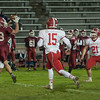 Fitchburg's Alex Marrero catches a pass across the middle against North Middlesex. (SENTINEL&ENTERPRISE/ Jim Marabello)