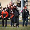 Gardner's Camden Kulczyk looks back for a touchdown pass against  Oakmont on Thanksgiving Day. Oakmont won 26-20. SENTINEL & ENTERPRISE / Jim Marabello