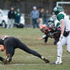 Gardner's Camden Kulczyk is unable to make a grabe on a low pass from QB Xavier Vargas on Thanksgiving Day. Oakmont won 26-20. SENTINEL & ENTERPRISE / Jim Marabello