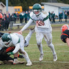 Oakmont QB Shamus Gorman takes off on a game winning touchdown run late in the 4th quarter. The Spartans prevailed 26-20 in their Thanksgiving Classic against Gardner. SENTINEL & ENTERPRISE / Jim Marabello