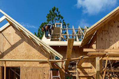 Front elevation roof decking