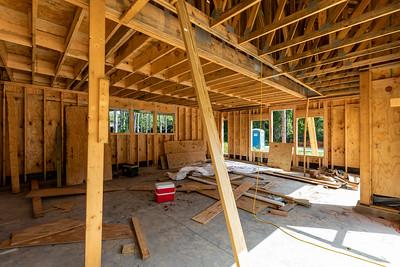 Garage with workroom studio above